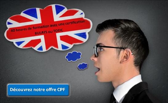 offre anglais CPF