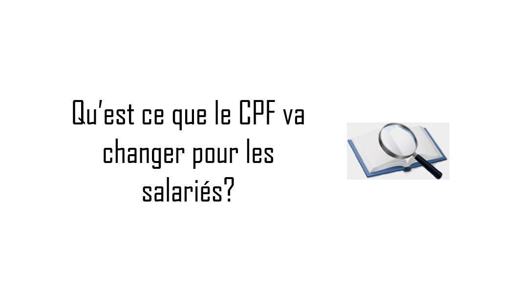 cpf pour salarié